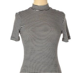 Nasty Gal x After Party Striped Dress Mock Neck